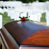"Roses on the casket of Col. Clem Robert ""Bob"" Lawson USAF. Arlington National Cemetery, July 8, 2009"